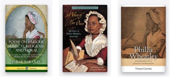 Phillis Wheatley books