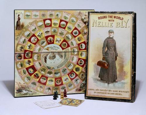 Nellie Bly Board Game 1890