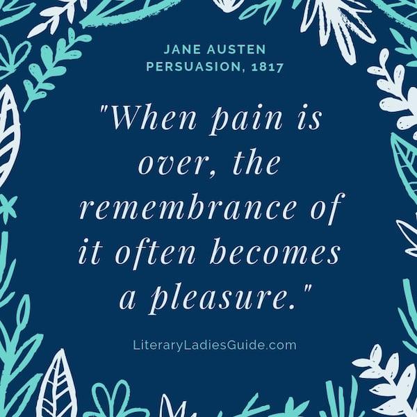Jane Austen quote from Persuasion