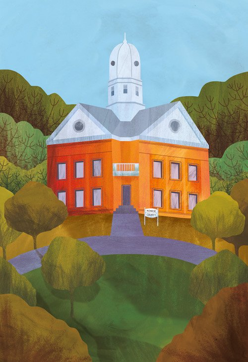 Literary Places by Sarah Baxter (author) and Amy Grimes (illustrator) Harper Lee's Monroeville