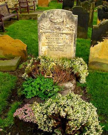 Anne Brontë grave at Scarborough