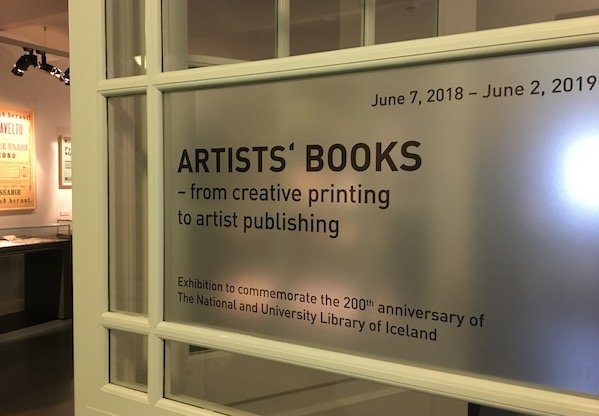 Artist's book exhibit at Culture House, Reykjavik