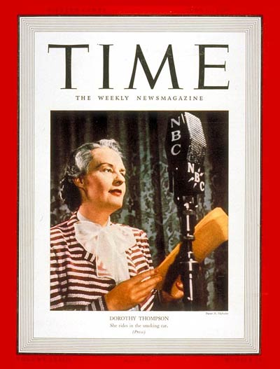 Dorothy Thompson on the cover of Time Magazine 1939