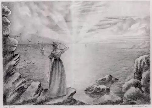 Drawing by Anne Brontë