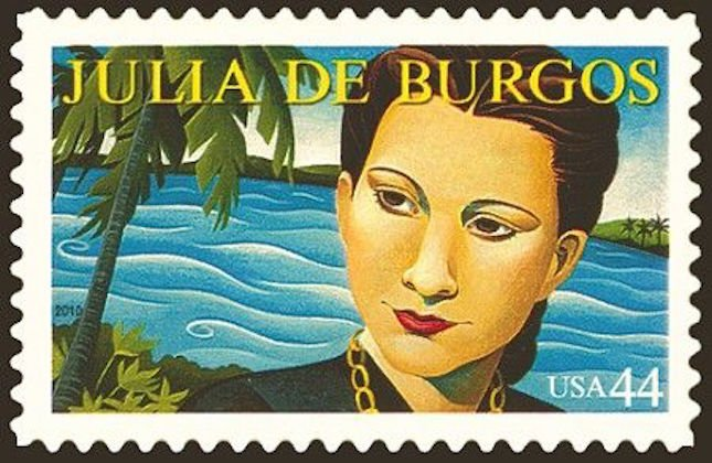 Julia de Burgos postal stamp