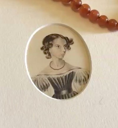 anne bronte from a drawing by charlotte