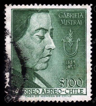 Gabriela Mistral postage stamp