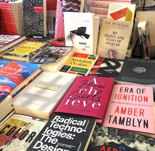 Bluestockings NYC selection of books