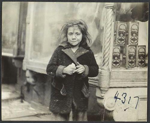 Street child photo by Jessie Tarbox Beals