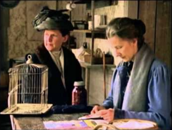 Scene from the film version of A Jury of Her Peers by Susan Glaspell