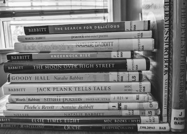 Natalie Babbitt Stack of Library Books