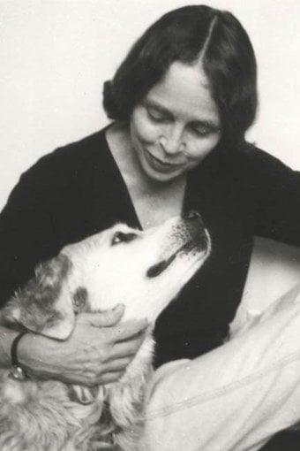 Natalie Babbitt with her dog