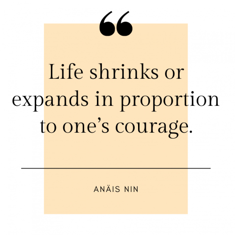 Anaïs Nin Quote on courage
