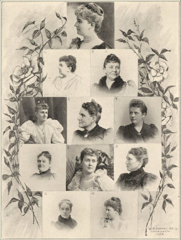 Chicago World's Fair Women's Pavilion-Officers of Board of Lady Managers, 1893