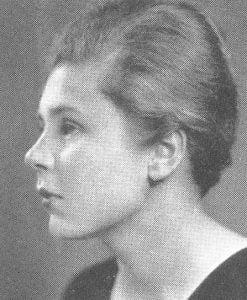 Elizabeth Bishop 1934 Vassar yearbook portrait