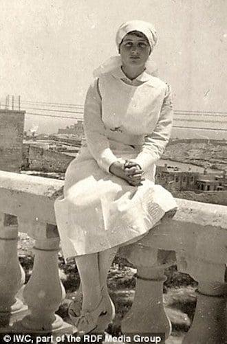 Vera Brittain as a WWI nurse
