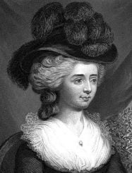 English author Fanny Burney in 1782