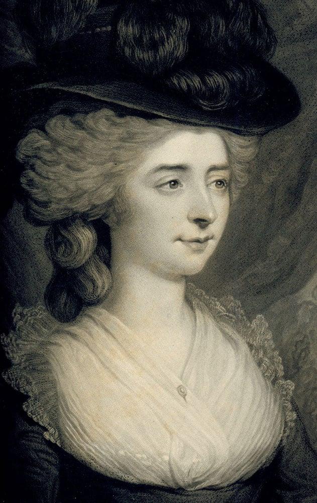 British novelist Fanny Burney, ca 1780s