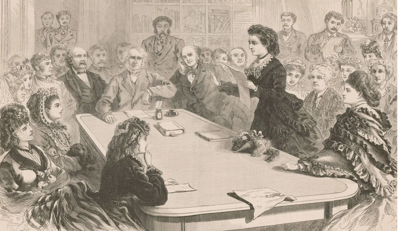 Victoria Woodhull speaking before the House Judiciary Committee, January 11, 1871