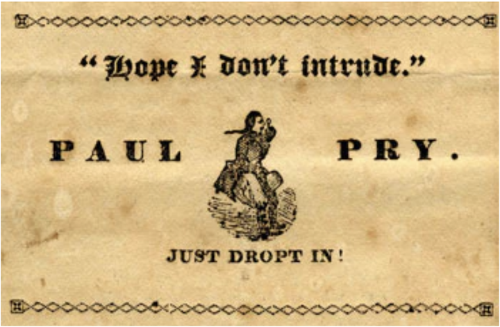 Paul Pry - a newspaper started by Anne Newport Royall