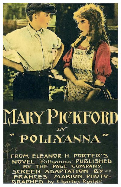 Pollyanna 1920 silent film poster