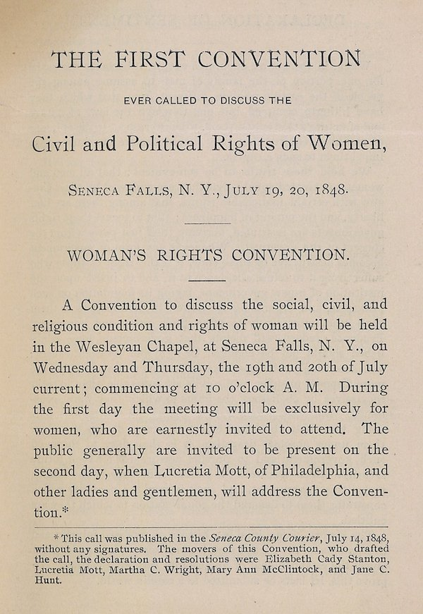 declaration of sentiments- Seneca Falls, 1848-1