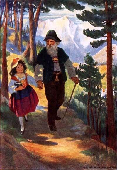 Heidi and her Grandfather - Jessie Willcox Smith