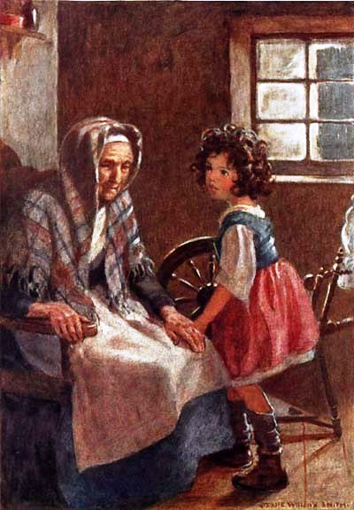 Heidi with Peter's grandmother - Jessie Willcox Smith