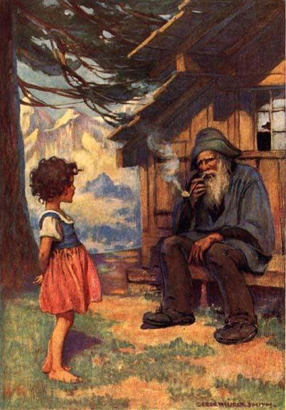 Heidi and her grandfather by Jessie Wilcox Smith