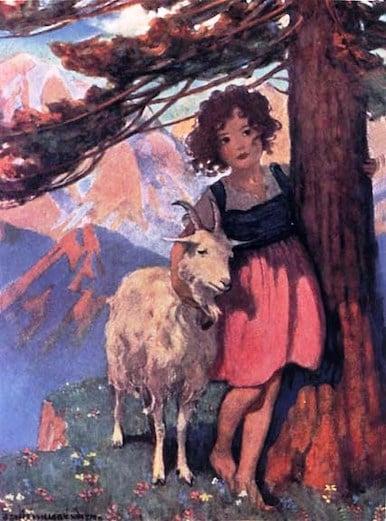 Illustration from 1922 edition of Heidi by Johanna Spyri - Jessie Willcox Smith