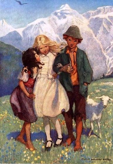 Clara, Peter, and Heidi - Jessie Willcox Smith