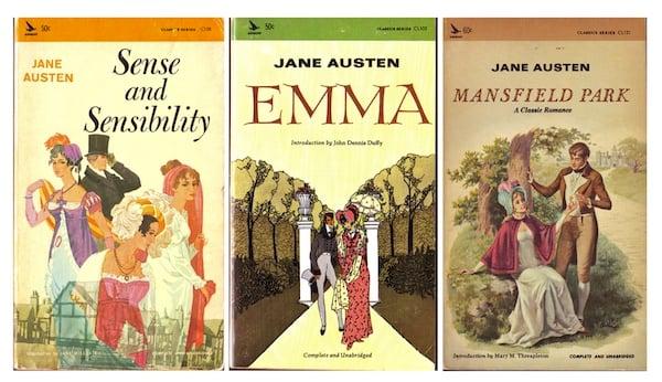 Jane Austen mass market paperbacks