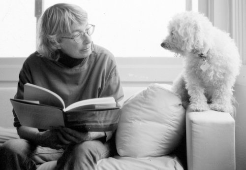 Mary Oliver and her dog