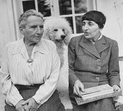 Gertrude Stein, Alice B. Toklas, and Basket
