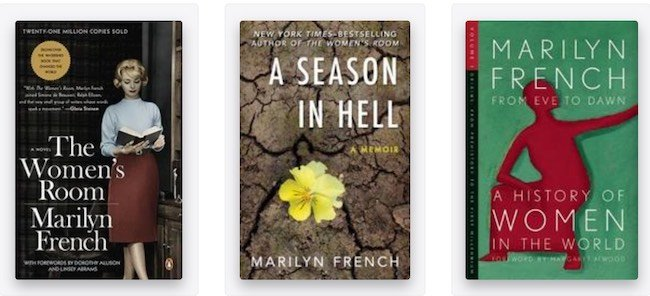 Marilyn French books