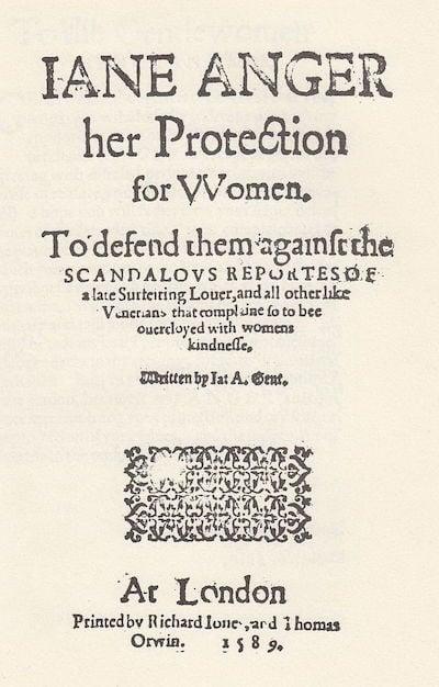 Jane Anger, early English writer