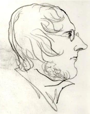 Self-portrait of Branwell Bronte, ca 1840