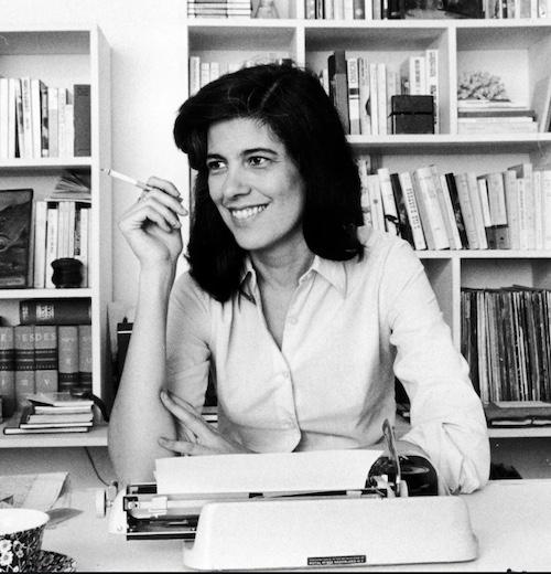 Susan Sontag at her desk