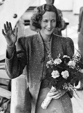 Beryl Markham with flowers