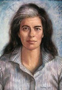 Susan Sontag pastel portrait by Juan Bastos