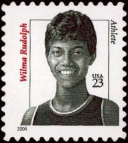 Wilma Rudolph postage stamp
