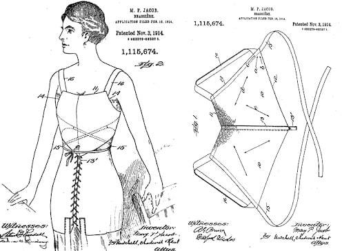 Caresse crosby brassiere patent