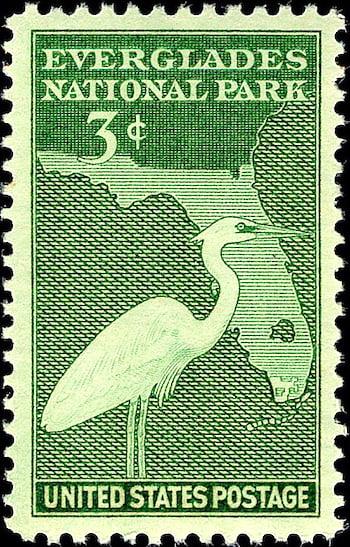 Everglades National Park postage stamp 1947