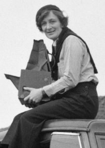 Dorothea Lange with a large format camera