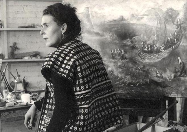 Leonora Carrington 1956 by Norah Horna