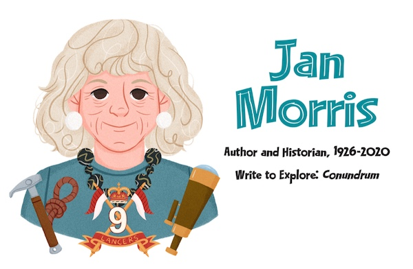 Jan Morris illustration by Melina Ontiveros